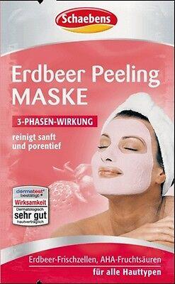 Erdbeer-peeling (10 x SCHAEBENS Erdbeer Peeling Maske porentiefe Reinigung  2x 6 ml (0,13€/1ml))