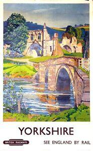 British-Rail-Yorkshire-Kirkham-Priory-Railway-Poster-A3-Print
