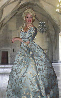 MARIE ANTOINETTE HALLOWEEN PIRATE SWANN COSTUME with CUFFS BABY BLUE S M L PLUS](Marie Antoinette Costume Plus)