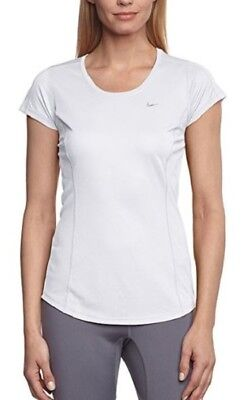 Nike Racer Shirt Running Clothes Womens Workout Exercise Gym Best White Large