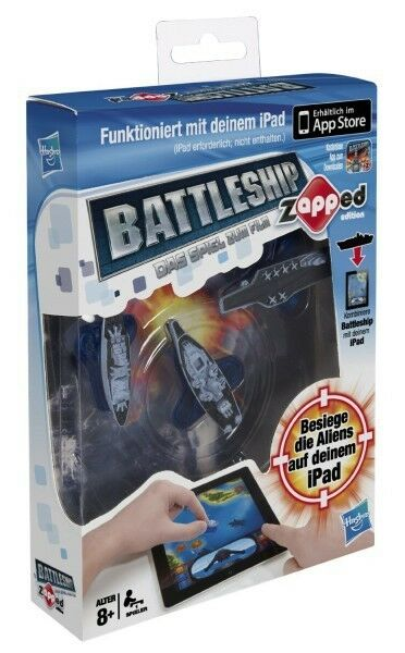 Hasbro A0911100 - Battleship Zapped - spielbar mit iPad, iPhone und iPod Touch