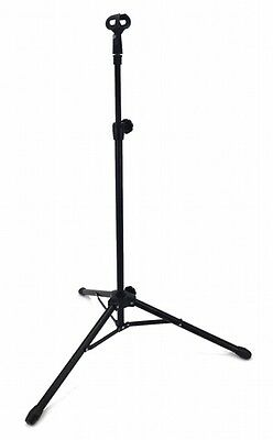 STRAIGHT MICROPHONE STAND 5' Foot ADJUSTABLE SINGLE MIKE CLIP TRIPOD STAGE - NEW