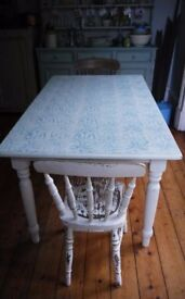 Classic farmhouse dining table updated in Annabell Duke chalk paint