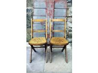 Pair of vintage mid century Venesta children's folding chairs