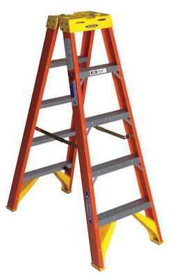 Werner T6205 5 Ft. Fiberglass 300 Lb. Twin Stepladder Type Ia