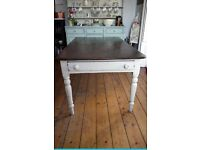 Vintage painted traditional farmhouse kitchen dining table