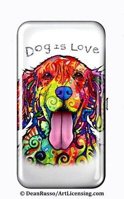"Full Color DOG face design RFID Protected Security WALLET / 7.25"" x 4.00"" x .75"""