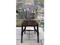 Beautiful antique beech Windsor dining chair