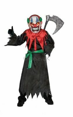 Kids Crazy Circus Scary Clown Girls / Boys Halloween Horror Fancy Dress Costume