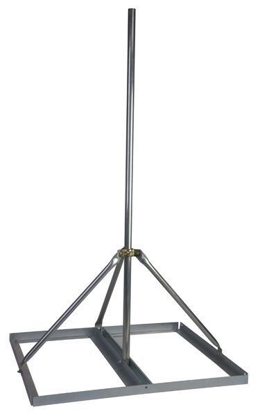 """Non-Penetrating Antenna Mast Roof Mount with 2"""" x 72"""" Mast - EZ NP-72-200"""