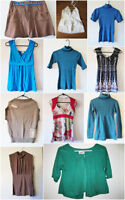 shirts, blazers, flats, slippers - $5 each or three for $12