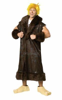 SALE! Adult Licensed 70s TV Flintstones Barney Rubble Mens Fancy Dress Costume ()