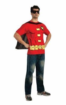 SALE! Adult Licensed Batman Robin T shirt Mens Fancy Dress Costume Party Outfit