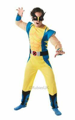 Adult Marvel Xmen Superhero Wolverine Classic Mens Fancy Dress Costume - Wolverine Fancy Dress Kostüm