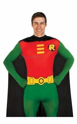 SALE! Adult Batman Robin 2nd Skin Body Suit Mens Fancy Dress Stag Party Costume