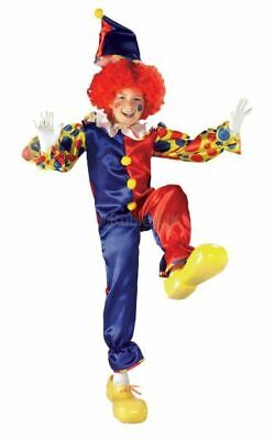 SALE Kids Bubbles The Circus Clown Girls / Boys Fancy Dress Costume Party Outfit