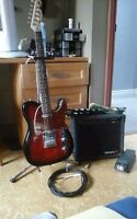 Fender squier telecaster, crybaby wawa pedal, amp amd more