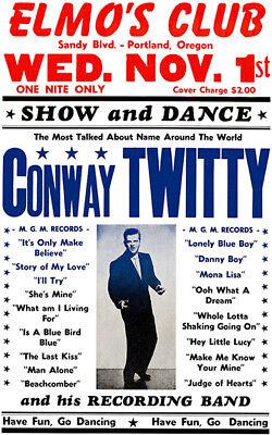 Conway Twitty - Elmo's Club - Portland OR - 1961 - Concert (Conway Portland)
