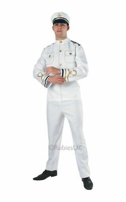 SALE Adult Military Navy Sea Officer Uniform Mens Fancy Dress Stag Party - Navy Officer Uniform Kostüm