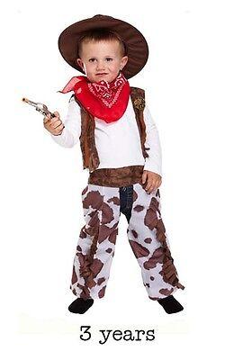 Boy Boys Wild West Cowboy Style Book Day Fancy Dress Costume Age 3 - Wild Style Kostüm
