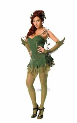 Poison Ivy Ladies Fancy Dress Costume Party Outfit - Party Poison Kostüme