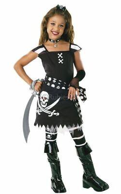 Kids Pirate ScarLet Girls Fancy Dress Costume Party Outfit (Scarlet Girl Kostüme)