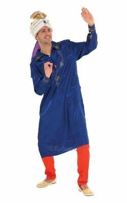 Bollywood Man Fancy Dress Costume Blue - Bollywood Mens Costumes