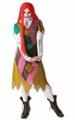 Licensed Nightmare Before Chirstmas Sally Ladies Halloween Fancy Dress Costume