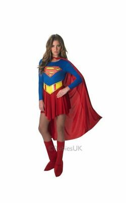 Supergirl Ladies Fancy Dress Costume Party Outfit Adult Sexy Licensed Superhero