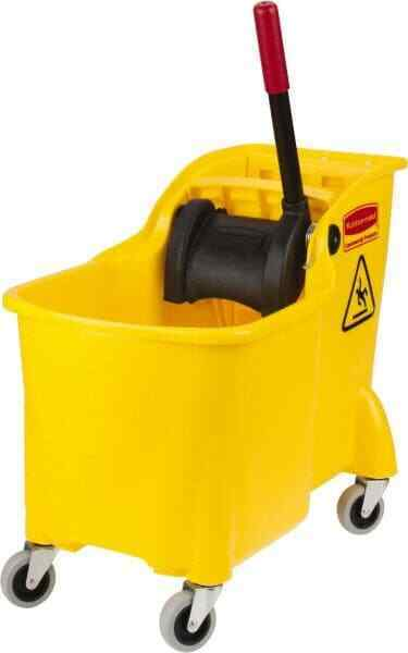 "Rubbermaid 31 Qt Plastic Bucket & Wringer 22-5/8"" Long x 32-1/4"" High x 13-1/..."