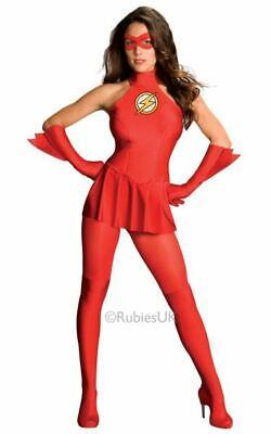 Flash Womens Costume DC comics Marvel Superhero Fancy Dress outfit