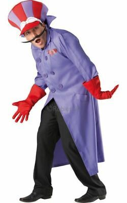 SALE! Adult 80s Wacky Races Dick Dastardly Mens Fancy Dress Costume Party - Wacky Races Kostüm