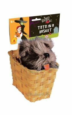 Funny Licensed Wizard Of Oz Toto In A Basket Fancy Dress Costume Party Accessory (Funny Wizard Of Oz Costumes)