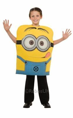 Kids Licensed Despicable Me Minion Dave Girls / Boys Fancy Dress Costume Outfit](Girls Minion Costume)
