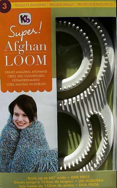 """Super Afghan Loom  Knit Up To 60"""" Afghan In One Piece  Knitting Board"""