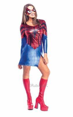 Spiderman Womens Costume DC comics Marvel Superhero Fancy Dress outfit ()