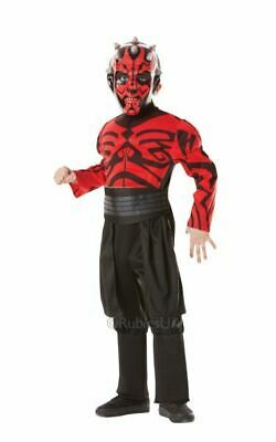 Kids Licensed STAR WARS Deluxe Darth Maul Boys Fancy Dress Costume Party Outfit
