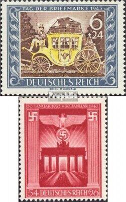 Deutsches Reich 828,829 (kompl.Ausg.) mit Falz 1943 Tag der Briefmarke, Brandenb