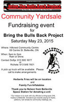 Bring the Bulls Back Project May 23, 2015 8am-2pm