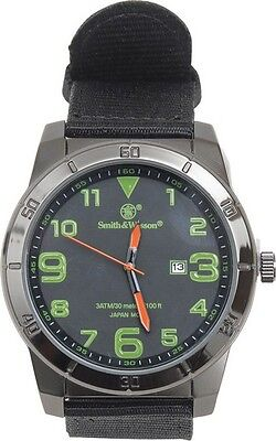 Smith & Wesson SWWMX27 Field Watch Black Stainless/Green Accents 1.5