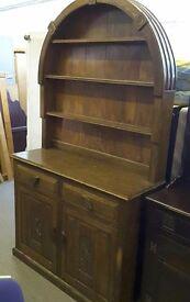 20% OFF ALL ITEMS SALE-Stunning Solid Oak Hand Carved Dutch Dresser / Sideboard- Can Deliver For £19