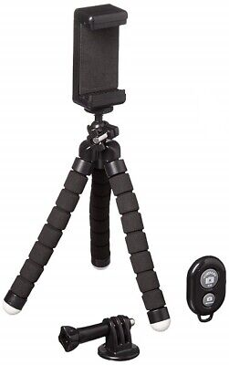 Portable Tripod + Adjustable Stand Holder w/ Bluetooth Remote for iPhone Android