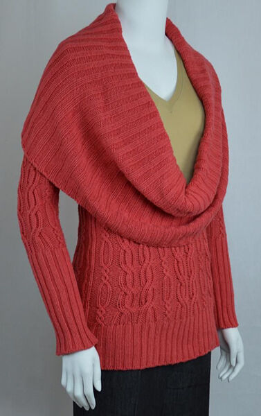 How to Wear a Cowl Neck Sweater