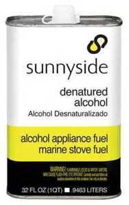 SUNNYSIDE 83432 Denatured Alcohol Solvent,1 qt.