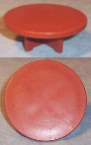 Vintage FISHER PRICE Little People ROUND MEDIUM BROWN TABLE
