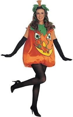 Adult Womens Halloween Orange Pumpkin Costume Party Fancy Dress One Size