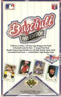 1991 Upper Deck High  Sealed Baseball Box ( Blowout Special )