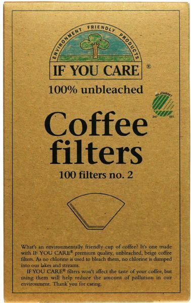 If You Care Coffee Filters No.2 Unbleached - 100 Filters
