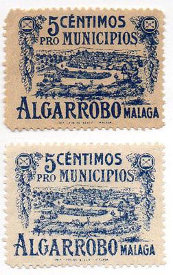 Usado, Sello Local Guerra Civil Algarrobo -Cat. Galvez 19 y 19A.  ORD:1322 segunda mano  Embacar hacia Argentina