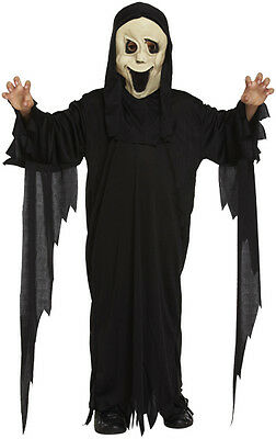 Boys Screamer Ghost Costume Demon Robe Halloween Fancy Dress Child Kids Outfit